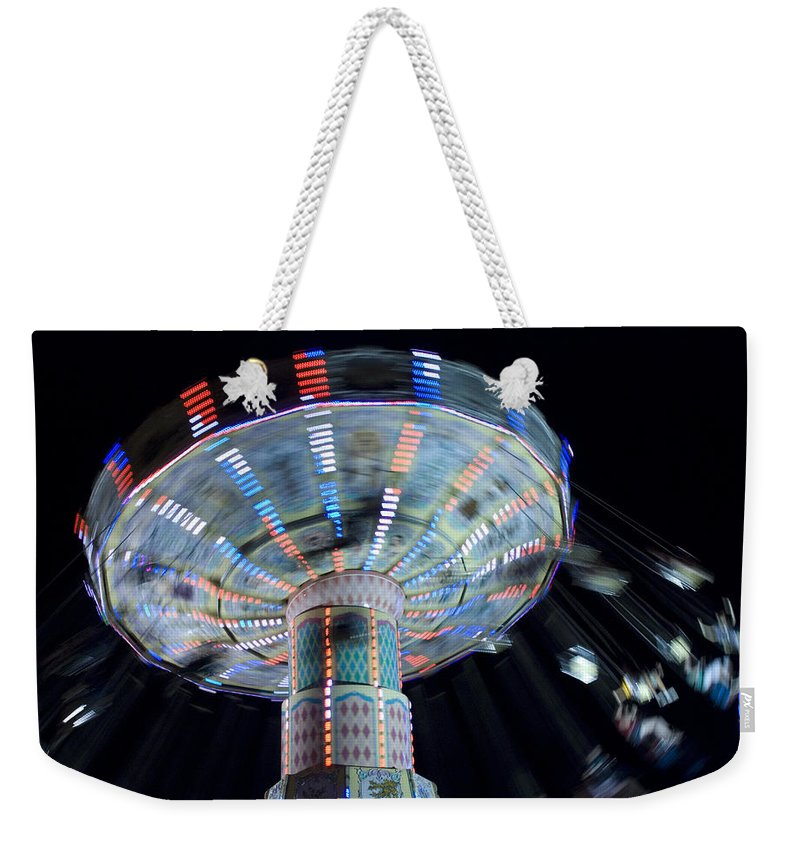 Swing Weekender Tote Bag featuring the photograph County Fair by Beverly Stapleton