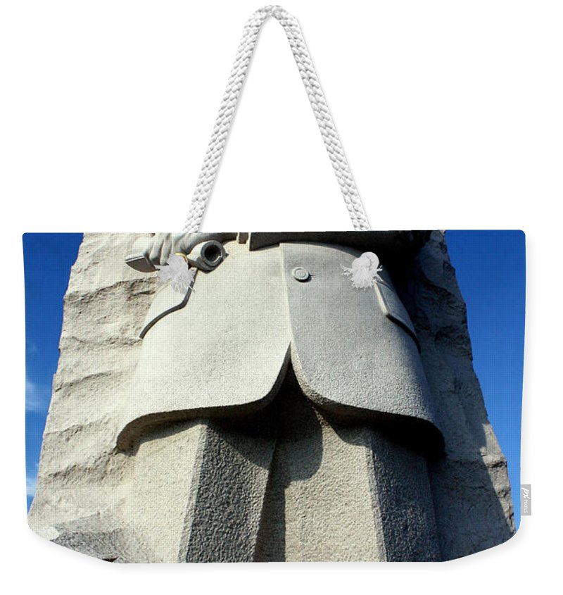 Martin Luther King Weekender Tote Bag featuring the photograph Courage by Suzanne Stout