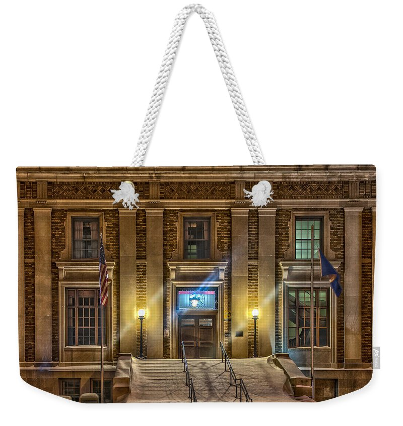 Aitkin County Courthouse Weekender Tote Bag featuring the photograph Courthouse Steps by Paul Freidlund