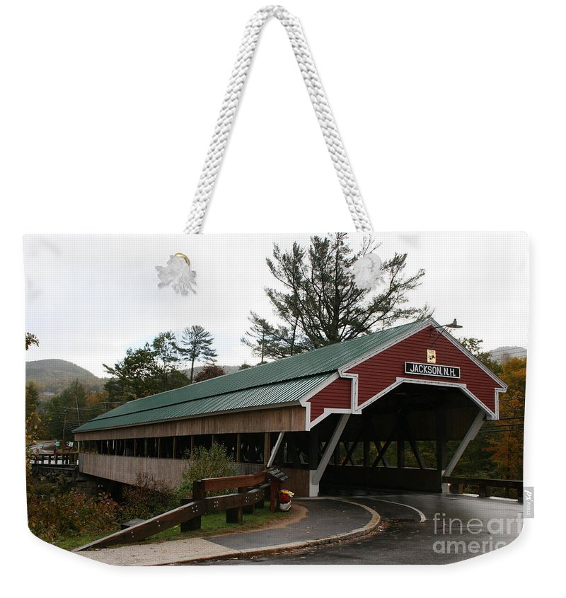 Covered Bridge Weekender Tote Bag featuring the photograph Covered Bridge Jackson by Christiane Schulze Art And Photography