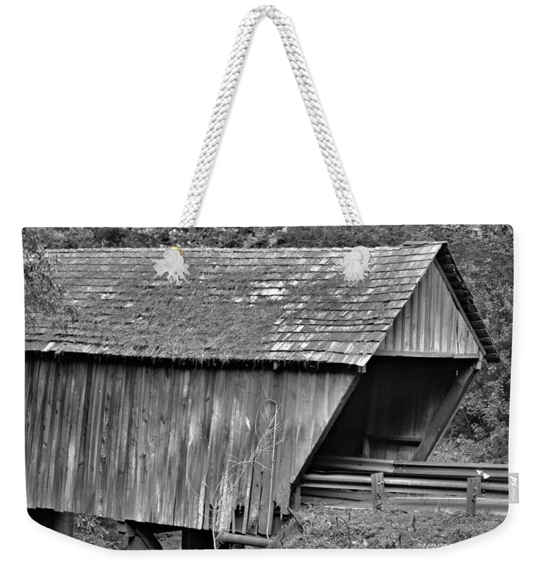 Covered Bridge Weekender Tote Bag featuring the photograph Covered Bridge by Tara Potts