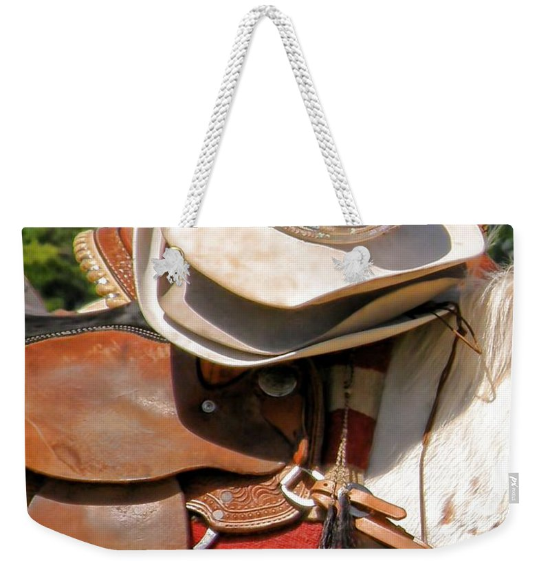 Hats Weekender Tote Bag featuring the photograph Cowgirl Hats by Shannon Story