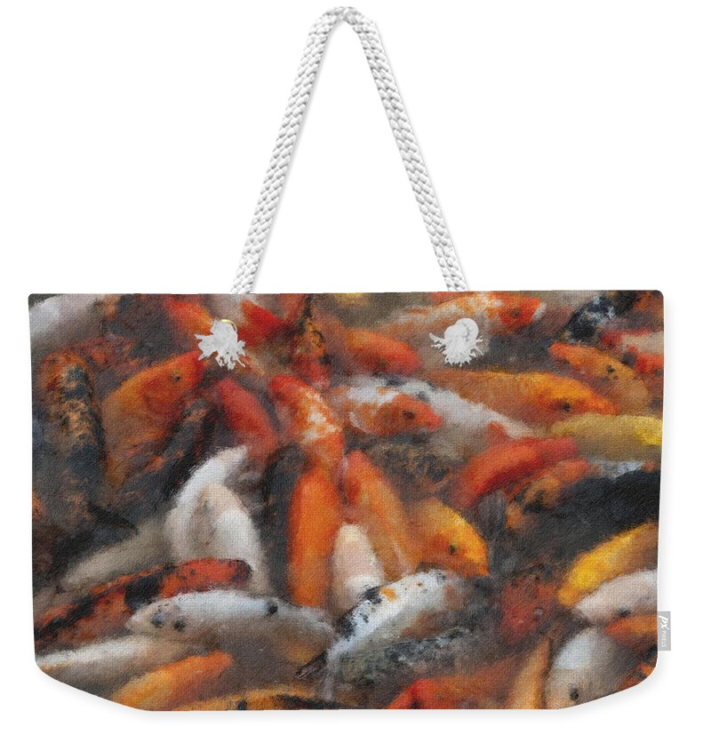 Coy Weekender Tote Bag featuring the photograph Coy Pastel Chalk 2 by David Lange