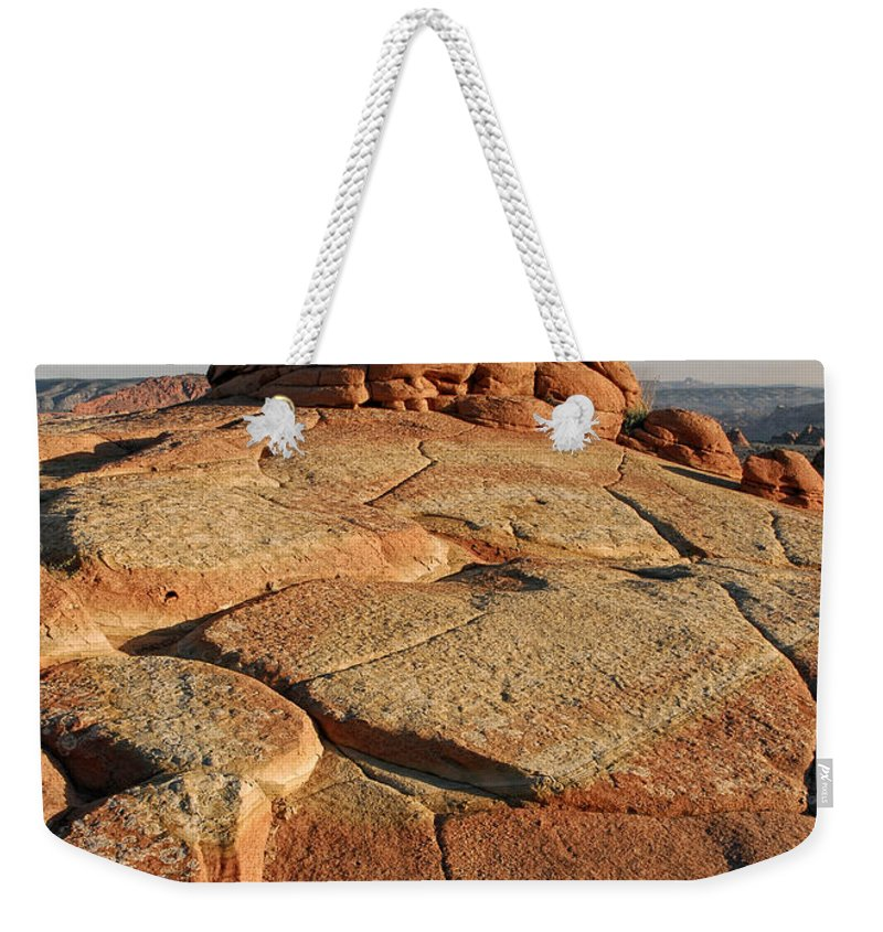 Coyote Buttes Weekender Tote Bag featuring the photograph Coyote Buttes Rock Formation by Dave Mills