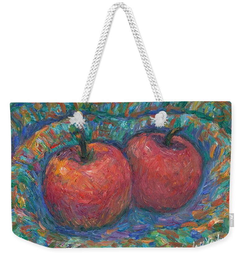 Kendall Kessler Weekender Tote Bag featuring the painting Cozy by Kendall Kessler