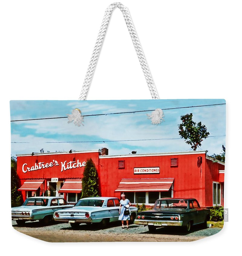 Weekender Tote Bag featuring the photograph Crabtree's Kitchen by Cathy Anderson