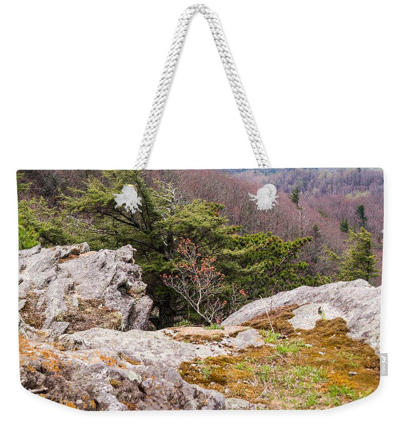 Weekender Tote Bag featuring the photograph Craigs Of The Mountain by Douglas Barnett
