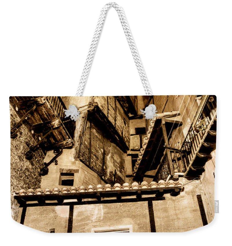 Albarracin Weekender Tote Bag featuring the photograph Crammed Floors In Albarracin by Weston Westmoreland