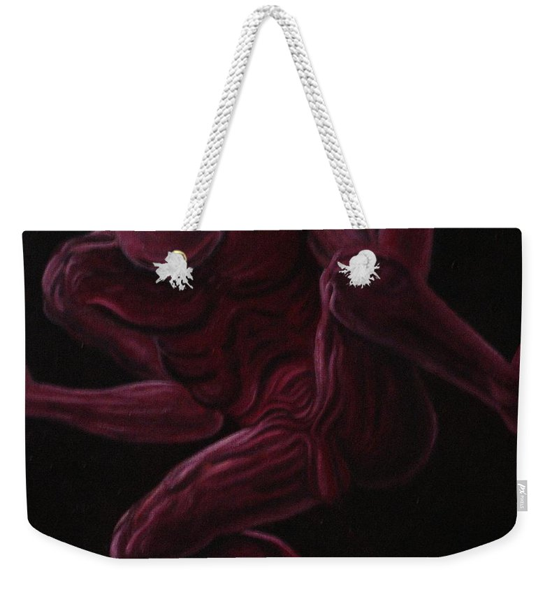 Genio Weekender Tote Bag featuring the painting Craving For Freedom by Genio GgXpress
