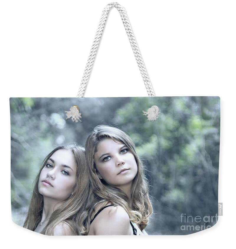 Girl Weekender Tote Bag featuring the photograph Create Your Destiny by Evelina Kremsdorf