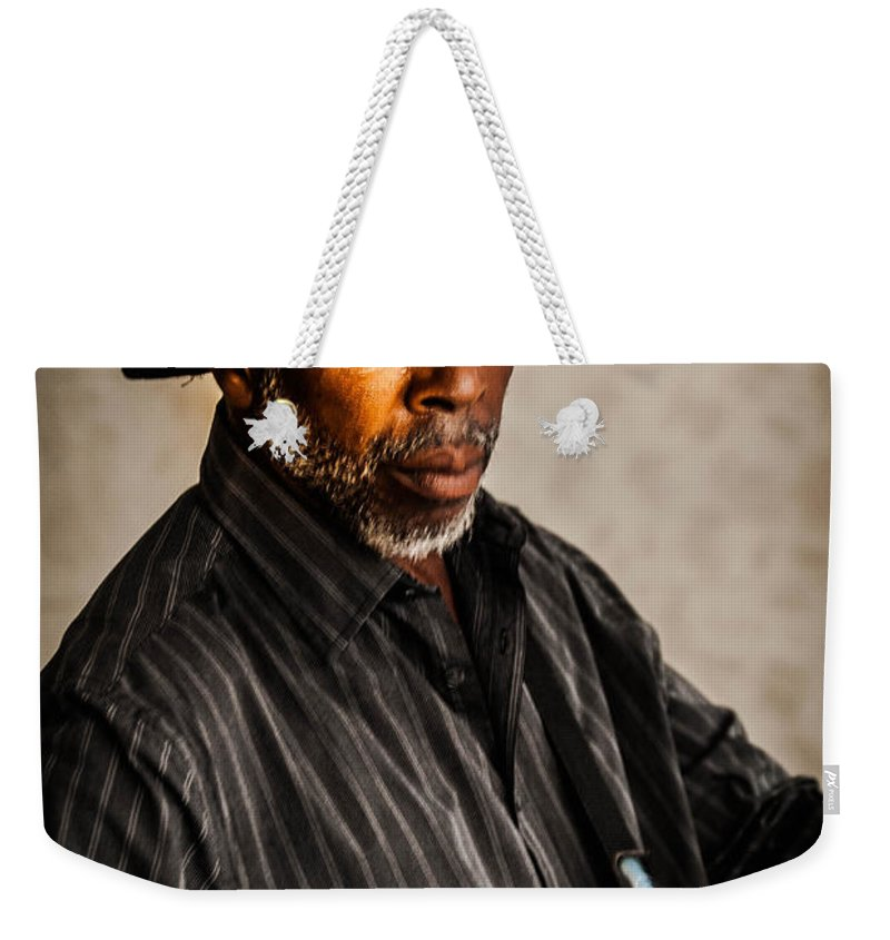 Guitar Weekender Tote Bag featuring the photograph Creating Music by Jon Cody
