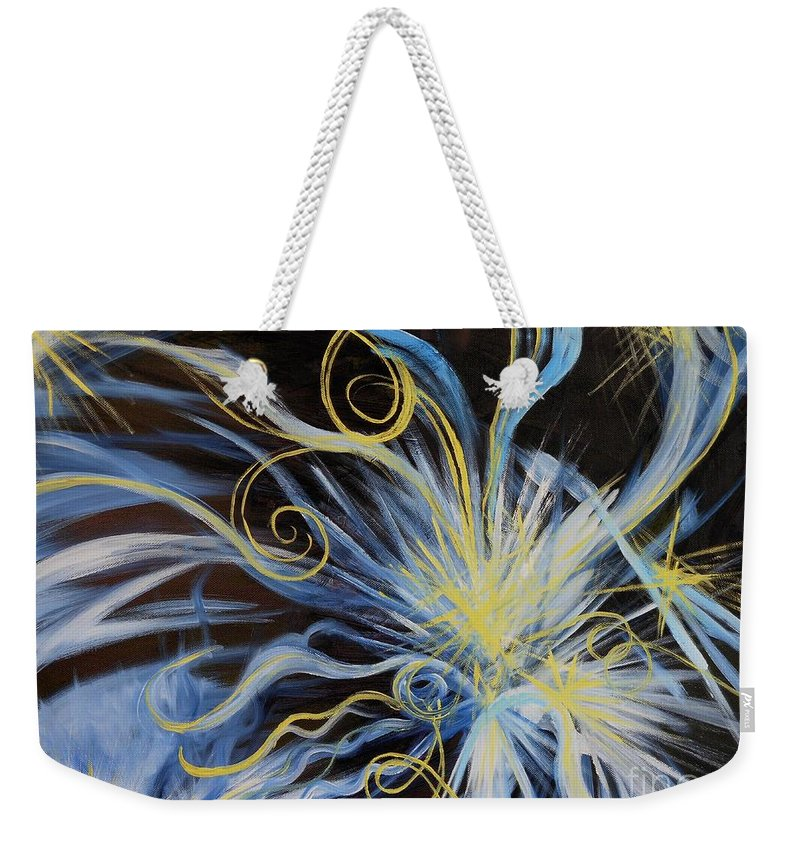 Creation Weekender Tote Bag featuring the painting Creation First Day Light by Caroline Street
