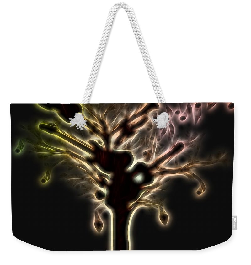 Creation Of Music Weekender Tote Bag featuring the digital art Creation Of Music by Dan Sproul