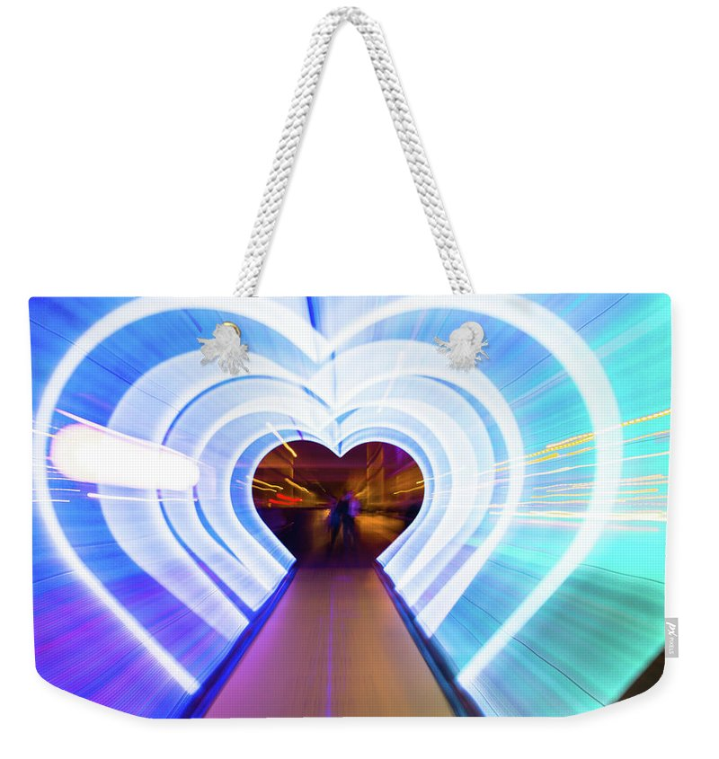 Cool Attitude Weekender Tote Bag featuring the photograph Creative Picture With Zoom Technique Of by Artur Debat