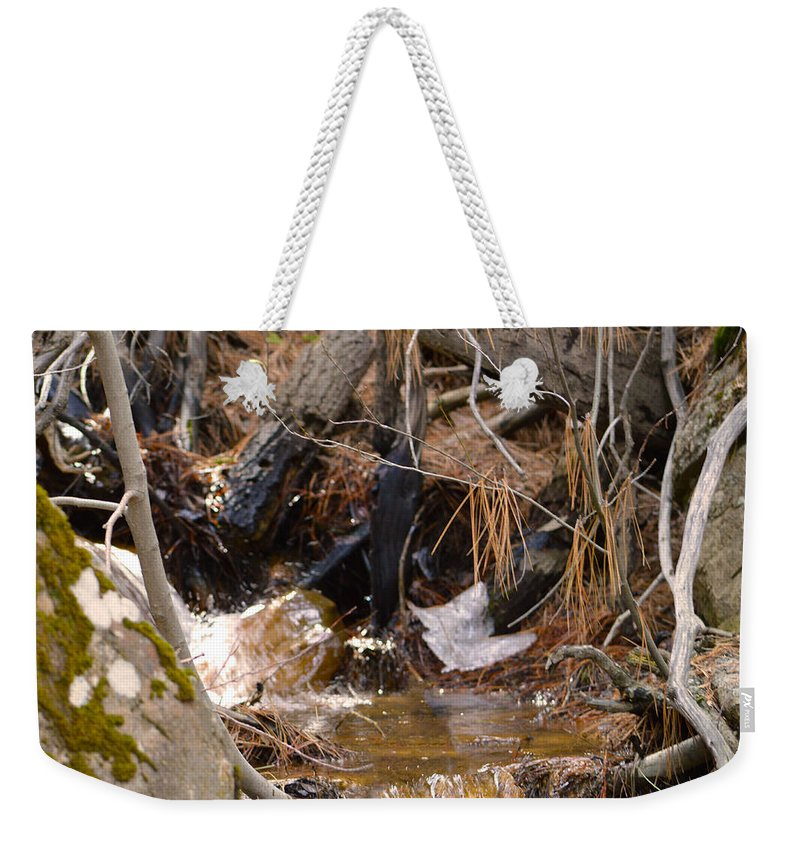 Nevada Weekender Tote Bag featuring the photograph Creek 2 by Brent Dolliver