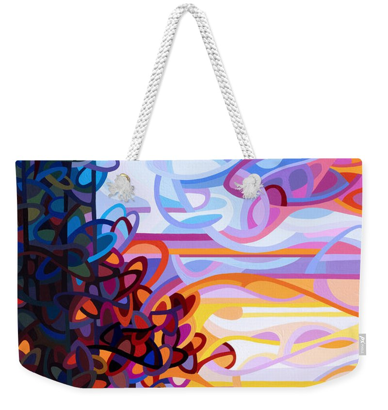 Art Weekender Tote Bag featuring the painting Crescendo by Mandy Budan