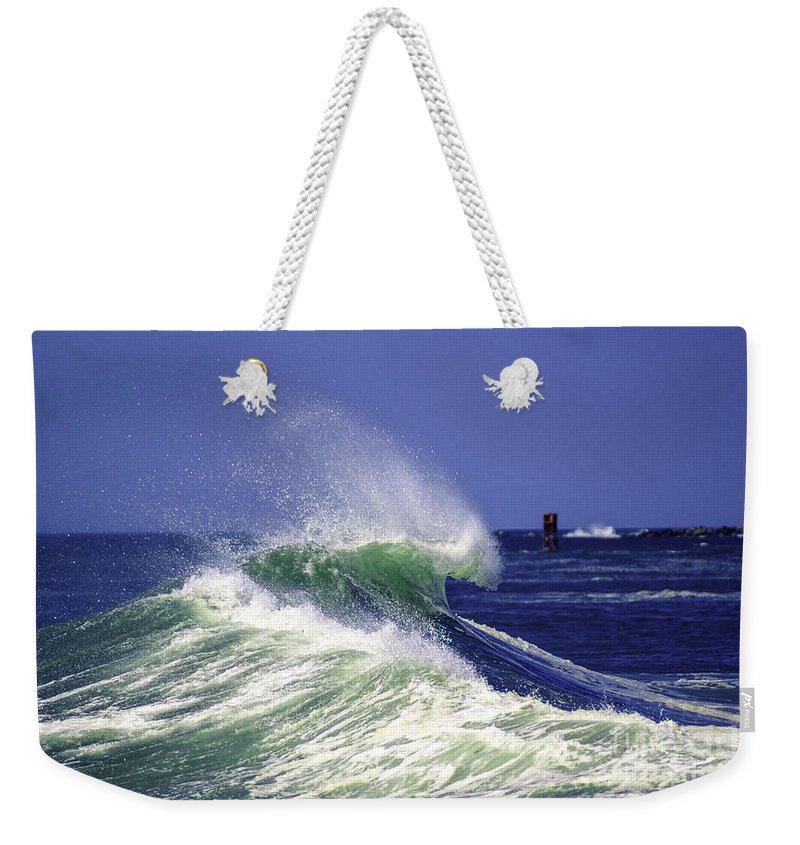 Wave Weekender Tote Bag featuring the photograph Crested by Joe Geraci