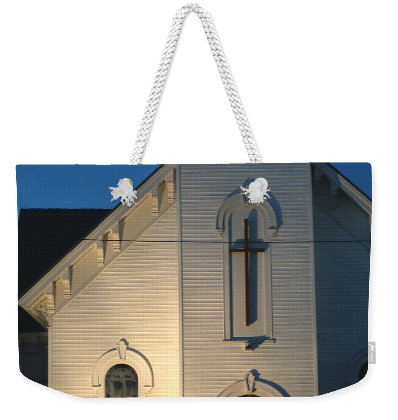 Church Weekender Tote Bag featuring the photograph Cris-cross by Joseph Yarbrough