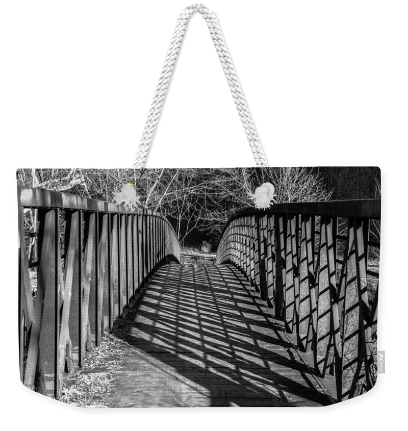 Bridge Weekender Tote Bag featuring the photograph Crisscross by Scott Hafer