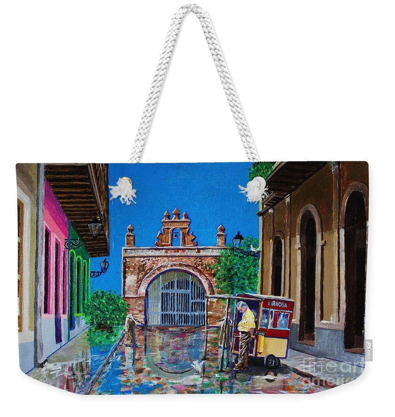 Cristo Street Weekender Tote Bag featuring the photograph Capilla De Cristo - Old San Juan by The Art of Alice Terrill