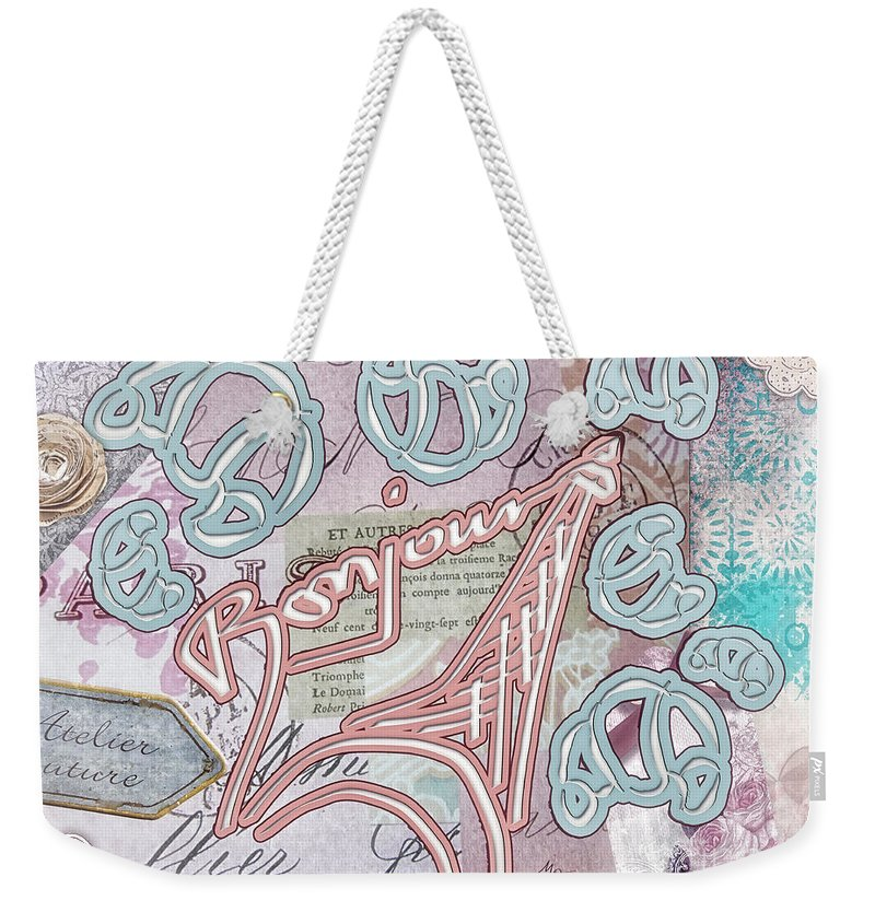 Croissant Weekender Tote Bag featuring the painting Croissant by Mo T