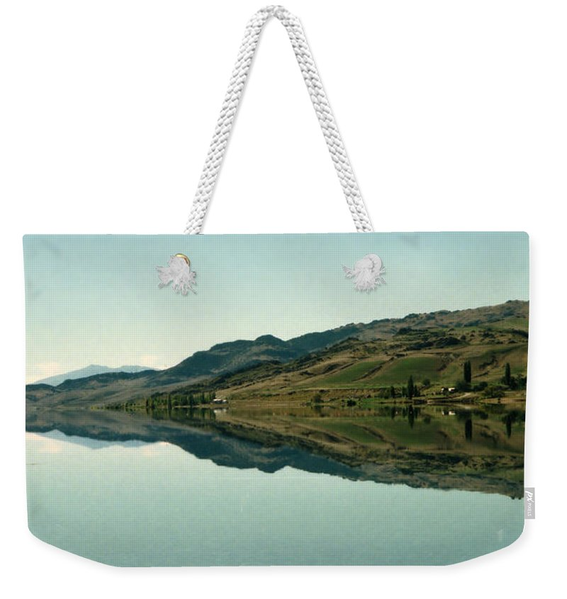 Reflections Weekender Tote Bag featuring the photograph Cromwell Dam Reflections by Carole-Anne Fooks