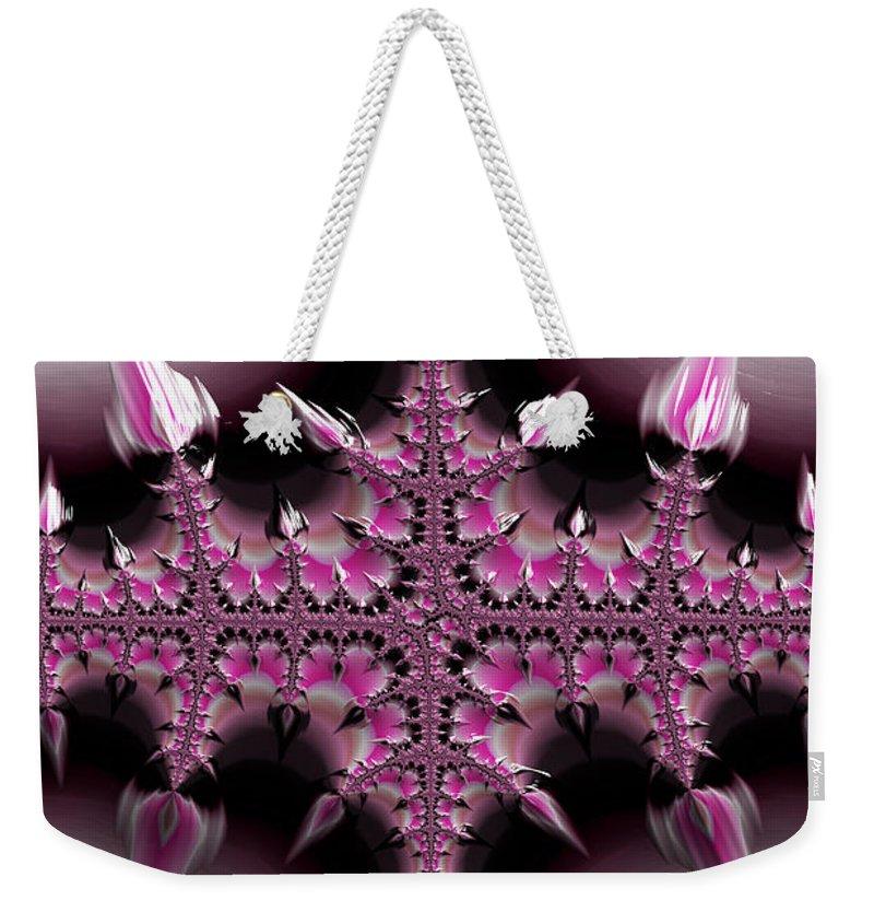 Fractal Weekender Tote Bag featuring the digital art Cross Of Thorns by Steve Purnell