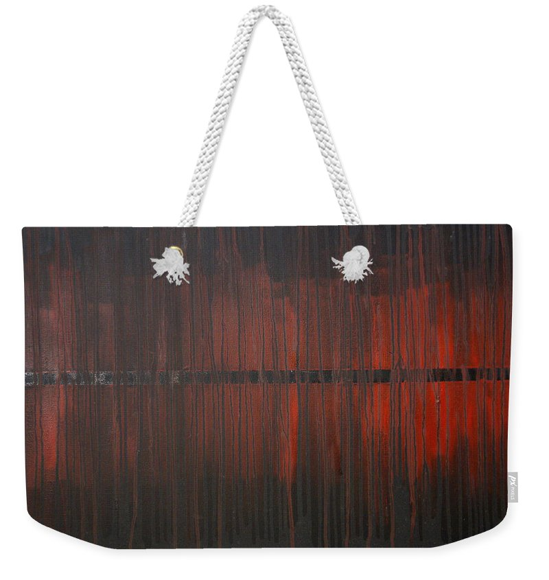 Fantasy Weekender Tote Bag featuring the painting Cross the Line by Sergey Bezhinets