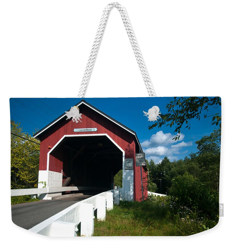carlton Bridge Weekender Tote Bag featuring the photograph Crossing Carlton by Paul Mangold