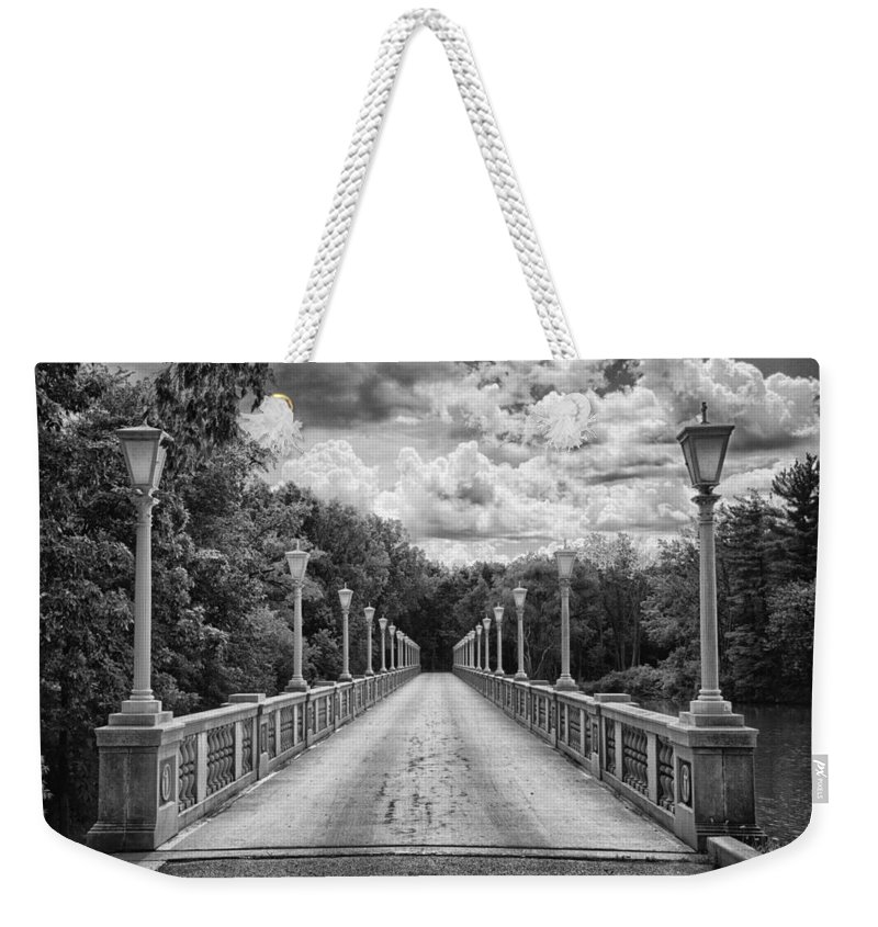 Bridge Weekender Tote Bag featuring the photograph Crossing Over by Mike Burgquist