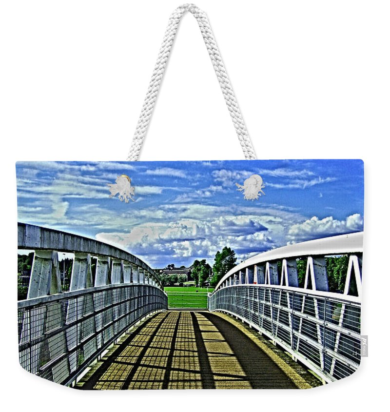 Bridge Weekender Tote Bag featuring the photograph Crossing Over Bridge by Nina Ficur Feenan