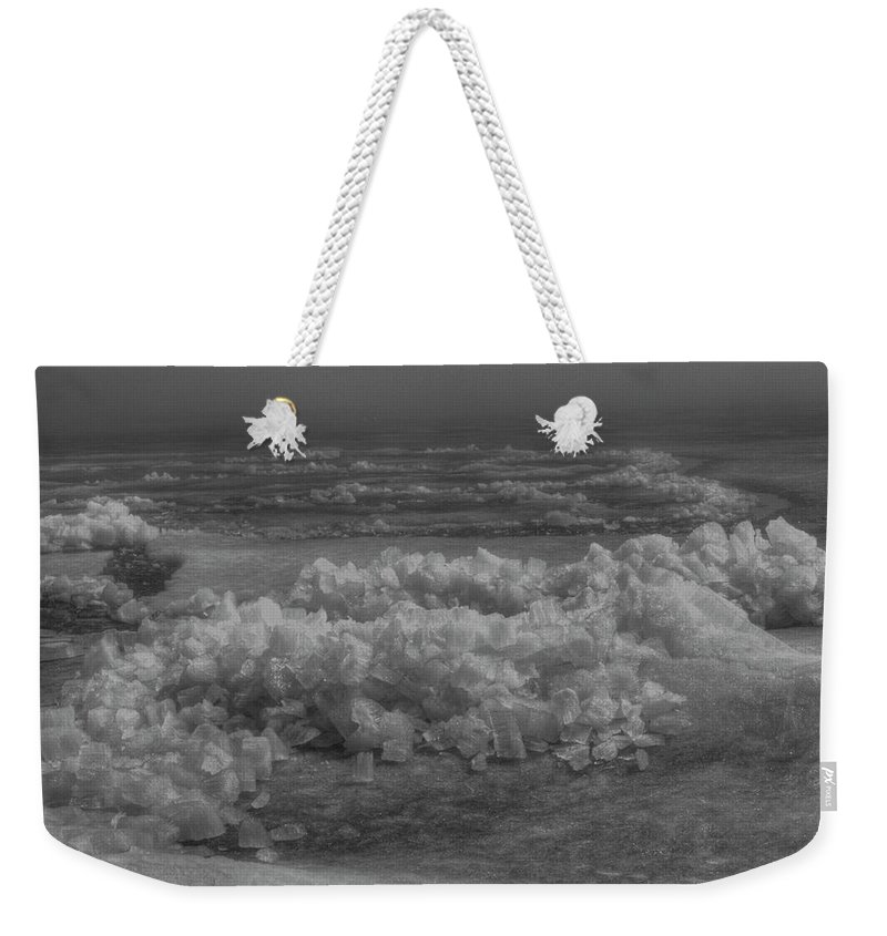 Ice Heave Weekender Tote Bag featuring the photograph Crushed Ice 2 by Thomas Young