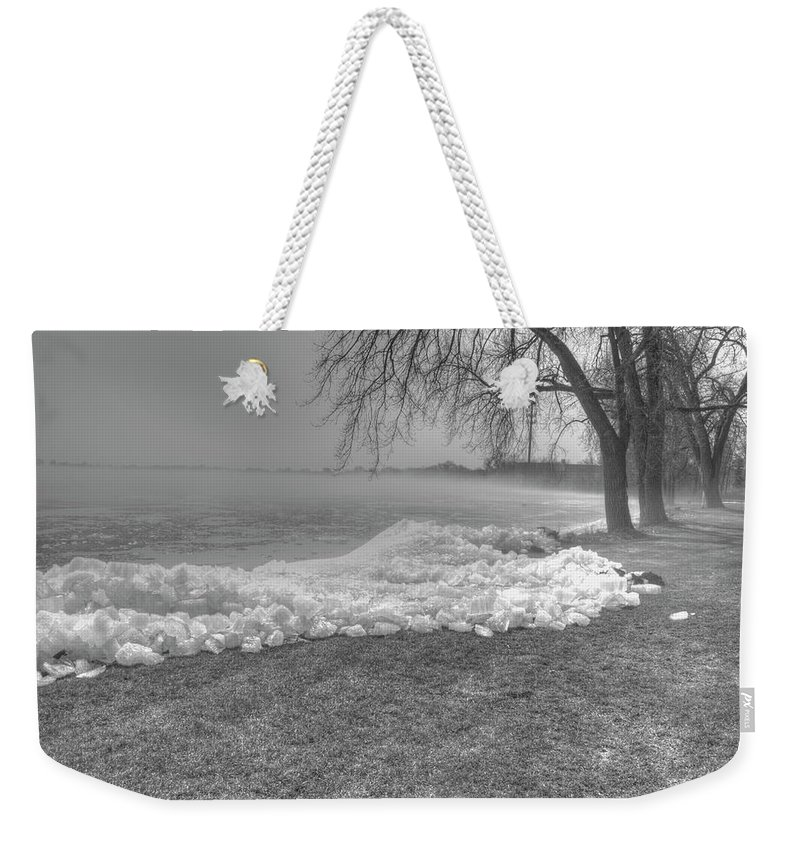Lake Winnebago Weekender Tote Bag featuring the photograph Crushed Ice 3 by Thomas Young