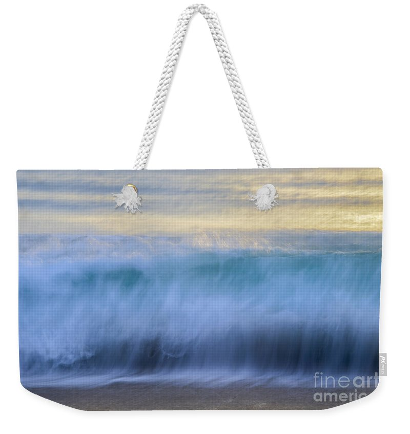 Landscapes Weekender Tote Bag featuring the photograph Crying Waves by Amanda Sinco