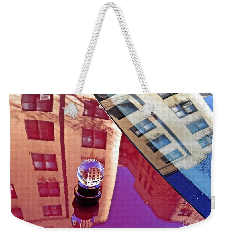 Crystal Weekender Tote Bag featuring the photograph Crystal Ball Project 60 by Sarah Loft