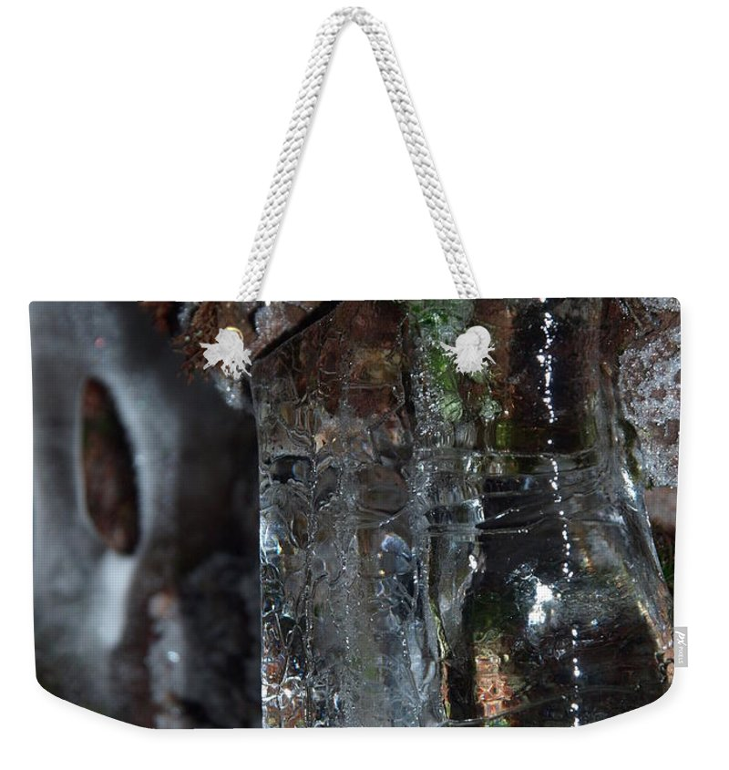 Nature Weekender Tote Bag featuring the photograph Crystal Ice by James Peterson