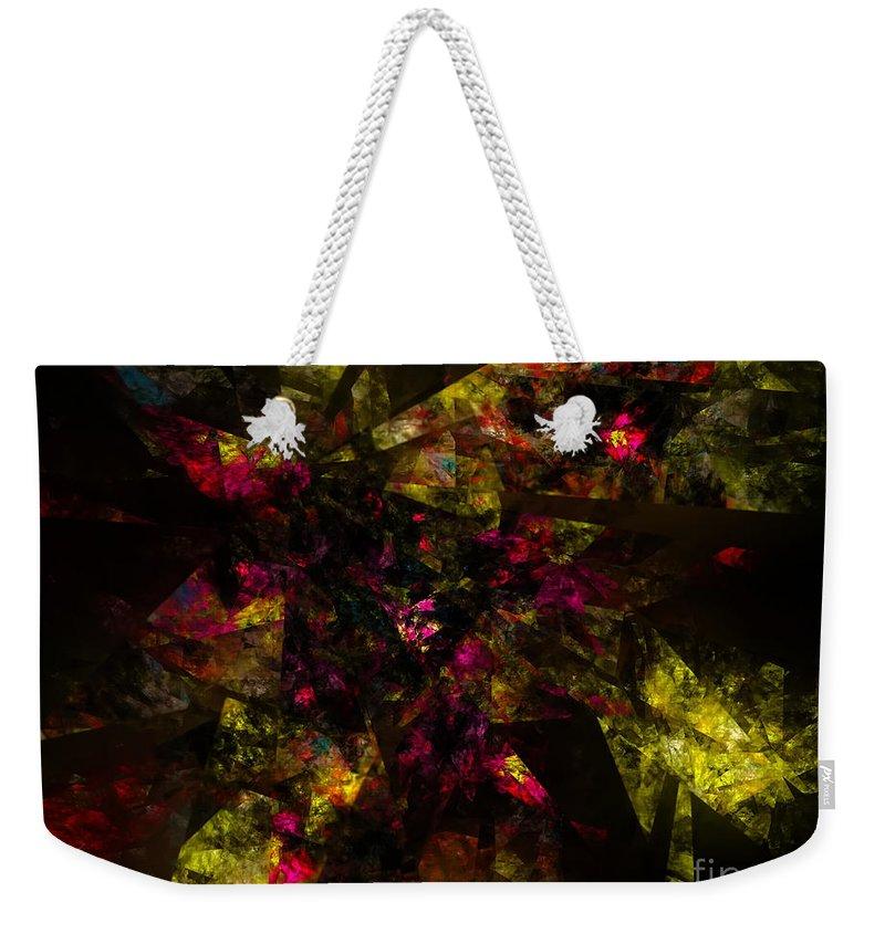 Crystal Art Weekender Tote Bag featuring the digital art Crystal Inspiration #1 by Olga Hamilton
