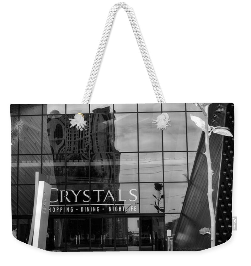 Crystals Weekender Tote Bag featuring the photograph Crystal Rose by Ricky Barnard