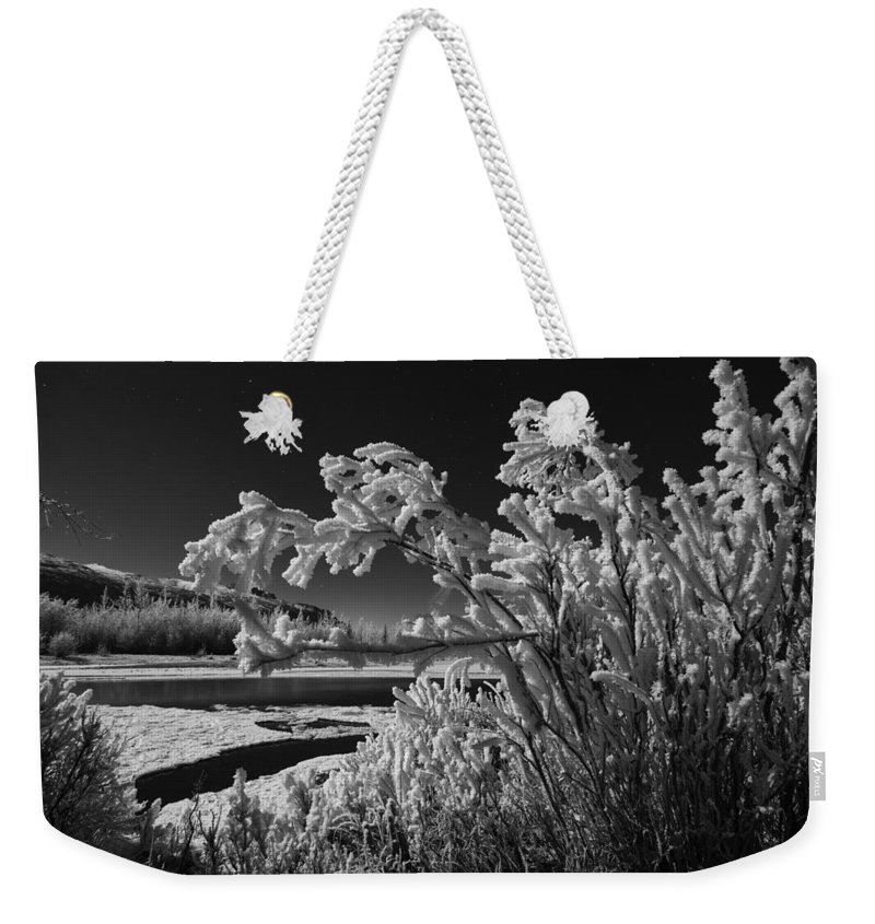Knik River Weekender Tote Bag featuring the photograph Crystalize by Ted Raynor