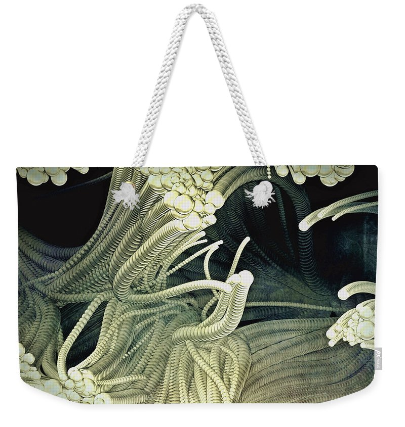 Cthulhu Weekender Tote Bag featuring the painting Cthulhu Beckons by Susan Maxwell Schmidt