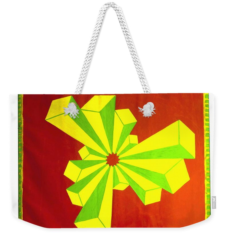 Cubism Weekender Tote Bag featuring the painting Cubism In Wheat-shire by MERLIN Vernon