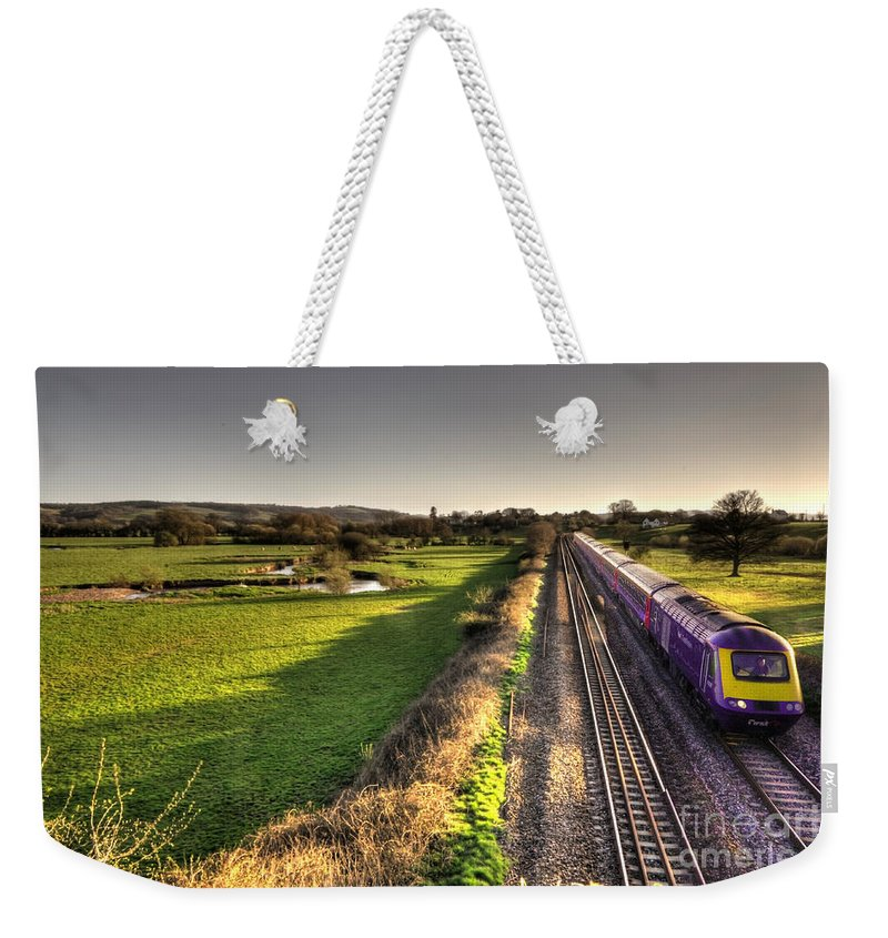 Rewe Weekender Tote Bag featuring the photograph Culm Valley Hst by Rob Hawkins