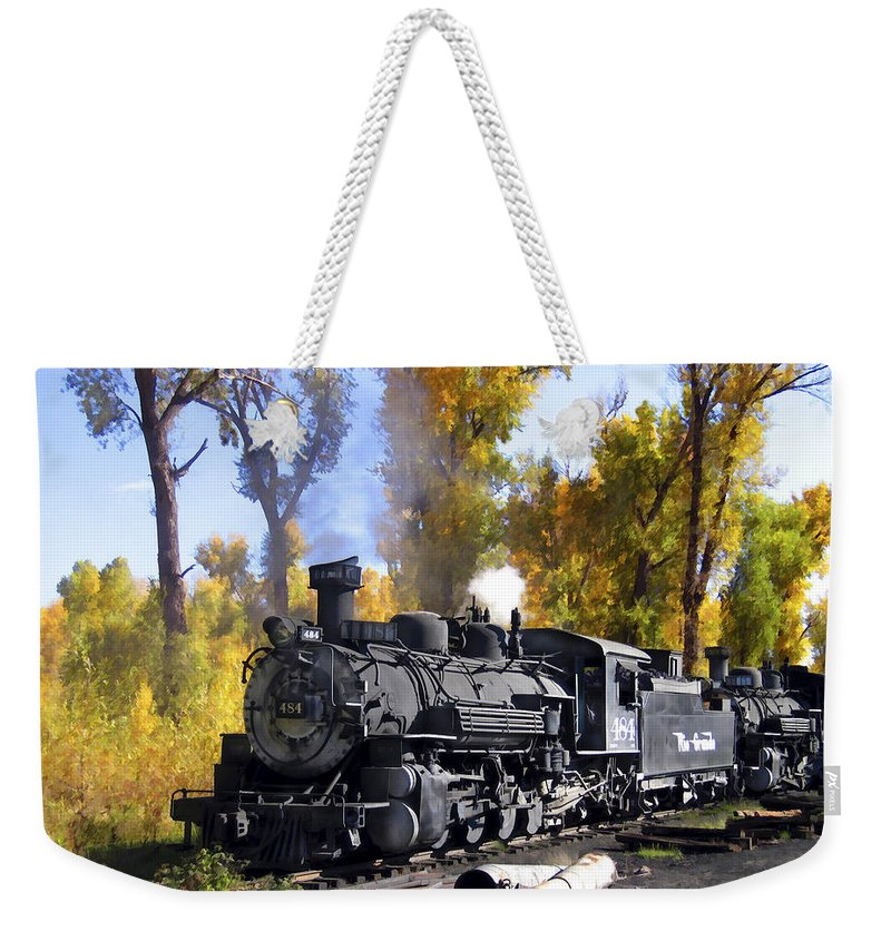 Train Weekender Tote Bag featuring the photograph Cumbres And Toltec Railroad by Kurt Van Wagner