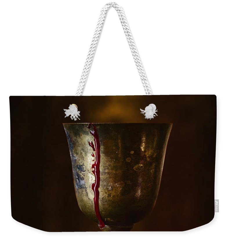 Gold Weekender Tote Bag featuring the photograph Cup Runneth Over by Margie Hurwich