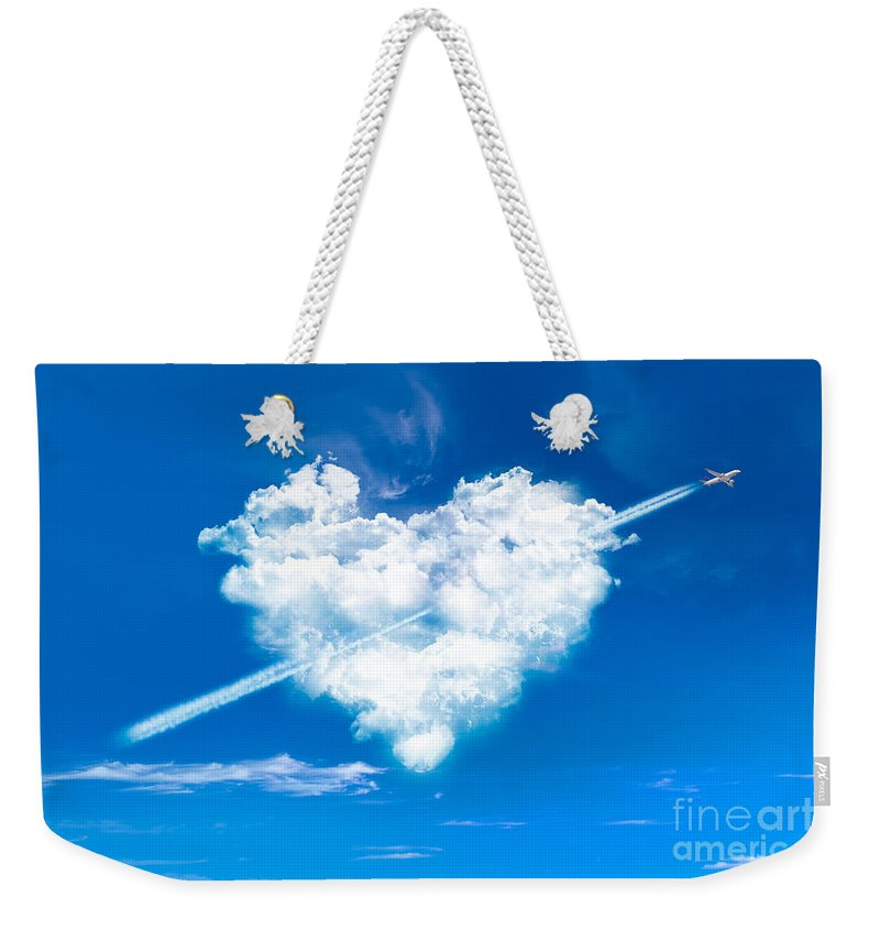 Valentine Weekender Tote Bag featuring the photograph Cupid by Delphimages Photo Creations