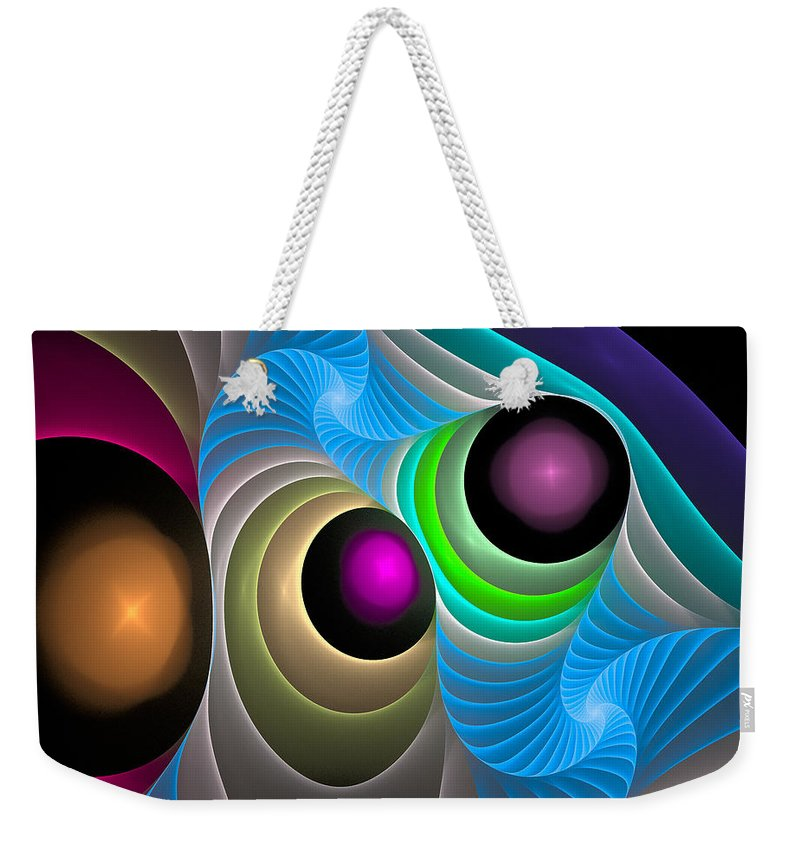 Curve Weekender Tote Bag featuring the digital art Curbisme-102 by RochVanh