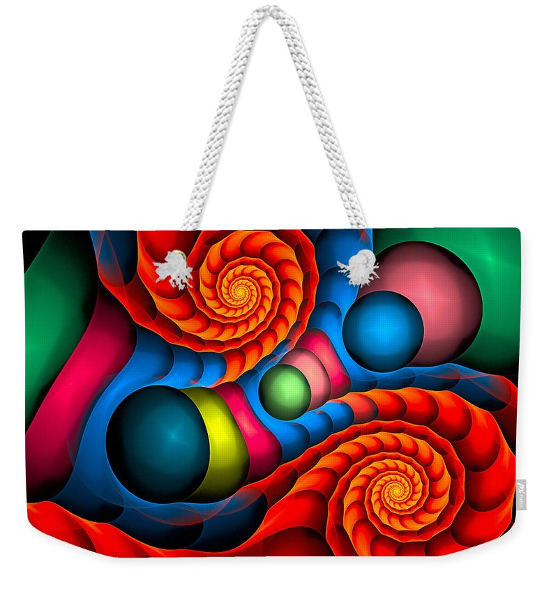 Curve Weekender Tote Bag featuring the digital art Curbisme-103 by RochVanh