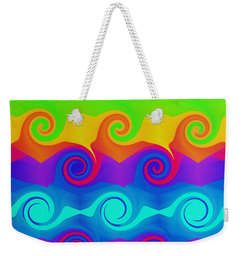 Andee Design Abstract Weekender Tote Bag featuring the digital art Curly Q 2 by Andee Design