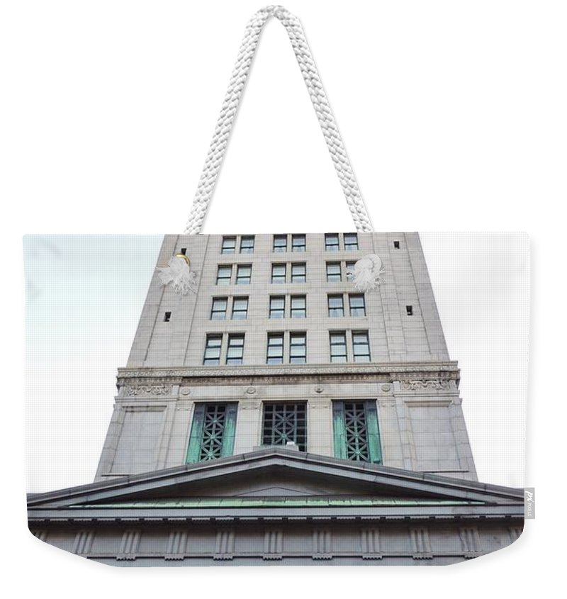 Architecture Weekender Tote Bag featuring the photograph Custom House by Paul Smith