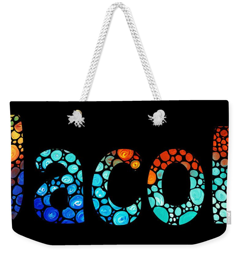 050e0ffddde8 Customized Baby Kids Adults Pets Names - Jacob 3 Name Weekender Tote Bag